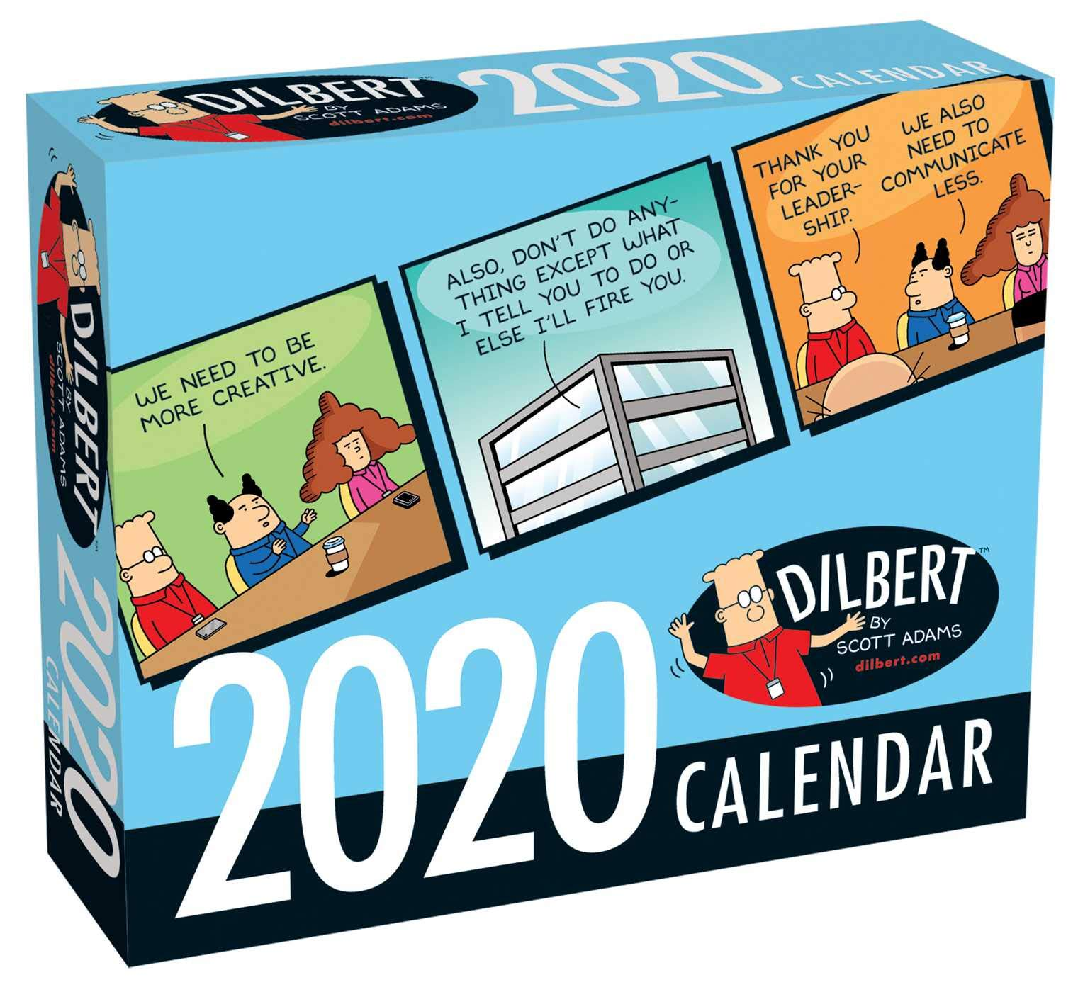 Free Comic Book Day 2020 List.Dilbert 2020 Day To Day Calendar Scott Adams 9781449497774