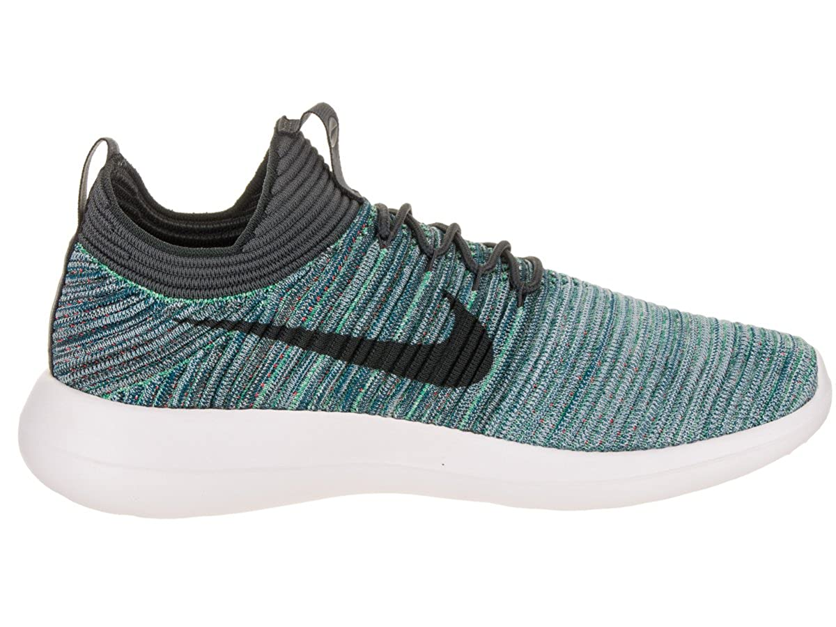 86c551328a4f Nike Men s Roshe Two Flyknit V2 Green Abyss Mica Blue Running Shoe 8.5 Men  US  Amazon.co.uk  Shoes   Bags