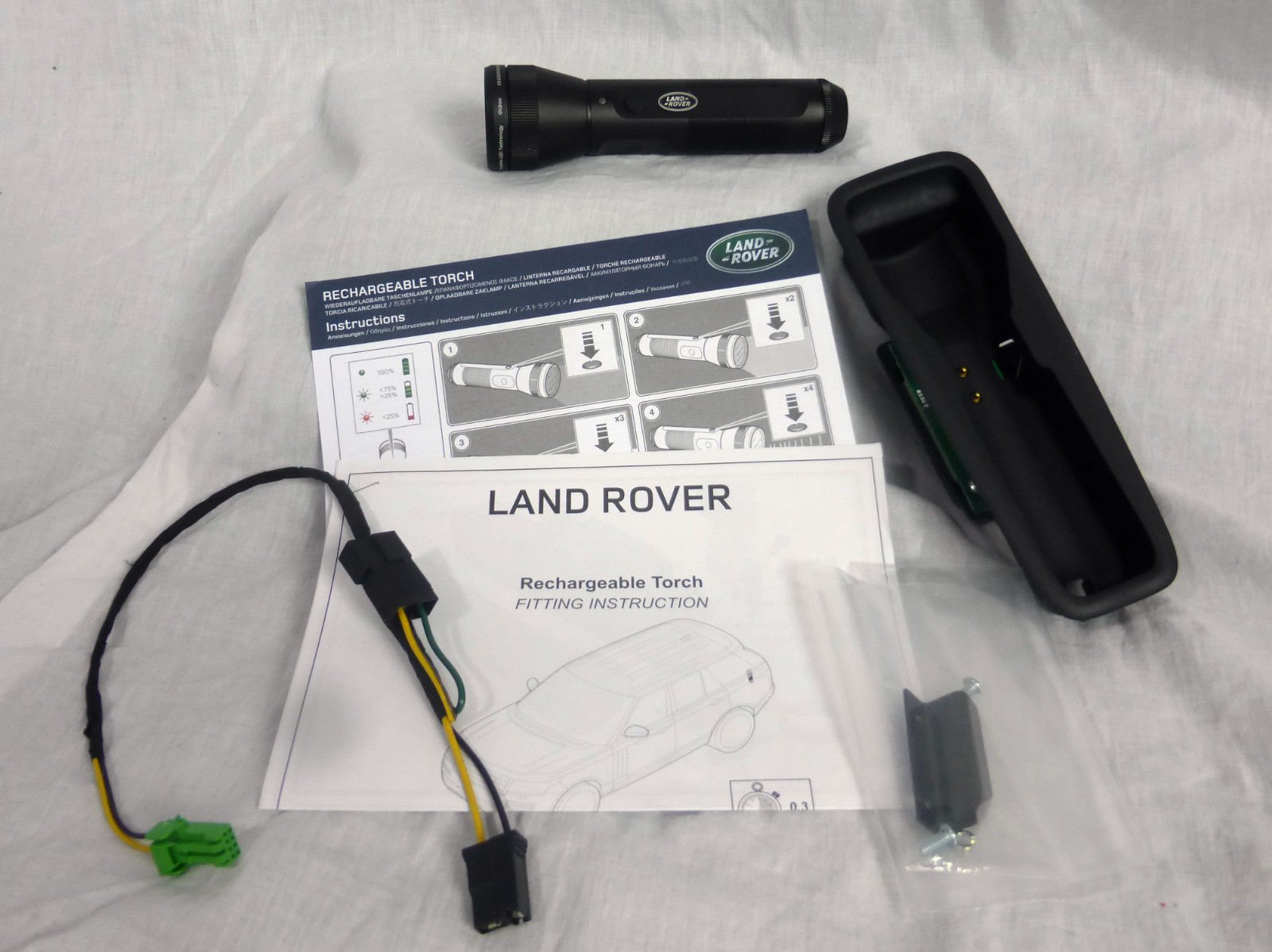 Land Rover OEM Range Rover L405 2013+ Rechargeable Flashlight Torch Installable