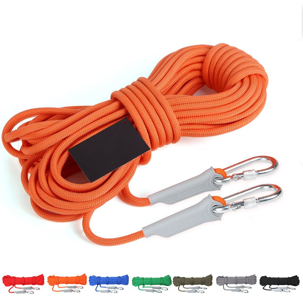 FLBTY Climbing Rope, 12 Mm Diameter Outdoor Climbing Accessories High Strength Rope Safety Rope (10 Meters, 32 Feet),Green