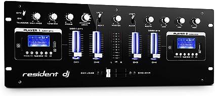 Mixer Dj 4 Canali Bluetooth Usb Mp3 Sd Jack Rca Discoteca Techno House Nero