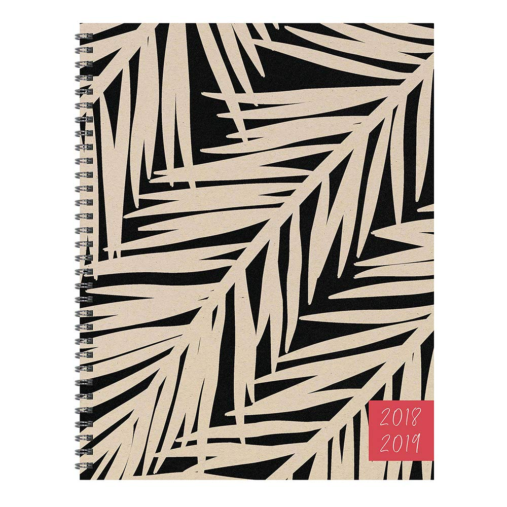 tf publishing 19 9720a july 2018 june 2019 botanical large weekly monthly planner 9 x 11 beige black
