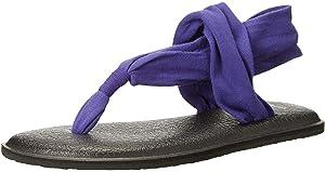 Amazon com | Sanuk Women's Yoga Sling 2 Solid Vintage Flip-Flop