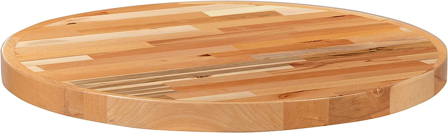 "Flash Furniture 30"" Round Butcher Block Style Table Top"
