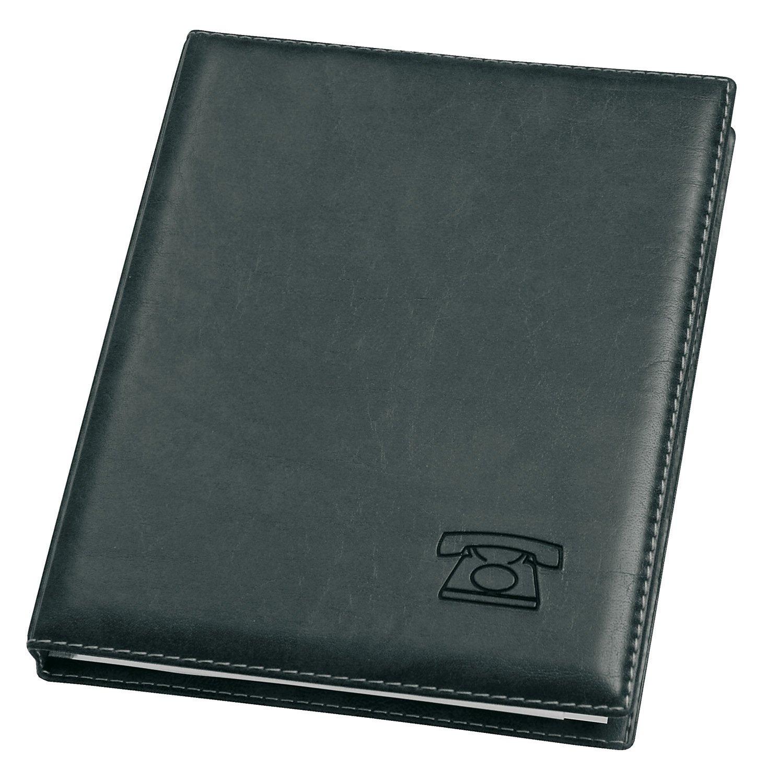 Veloflex 5158780 - Agenda de teléfonos de anillas (16 mm de ancho), color negro