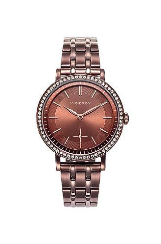 Viceroy Reloj Analogico para Mujer de Cuarzo con Correa en Acero Inoxidable 471112-47: Amazon.es: Relojes