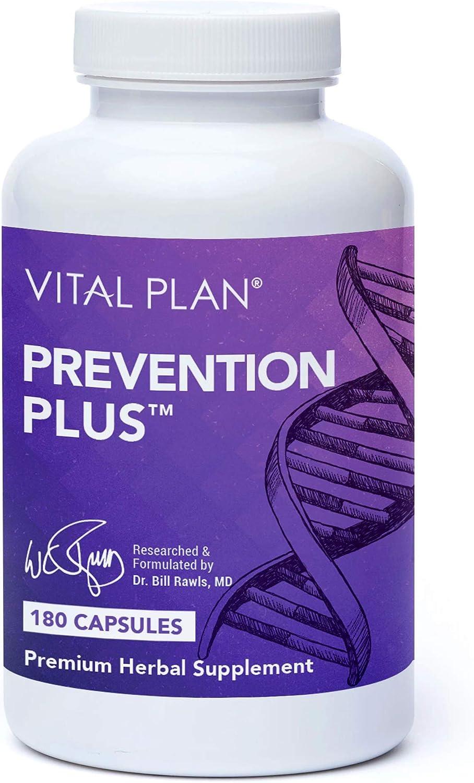 Vital Plan Prevention Plus Daily Multivitamin by Dr. Bill Rawls - Herbal Antioxidant & Multimineral for Women & Men - Vitamins A B D C E, Biotin & Zinc