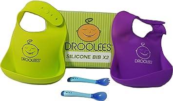 Baby Toddler Infant Feeding Saliva Bibs Washable Waterproof Silicone Neck Scoop