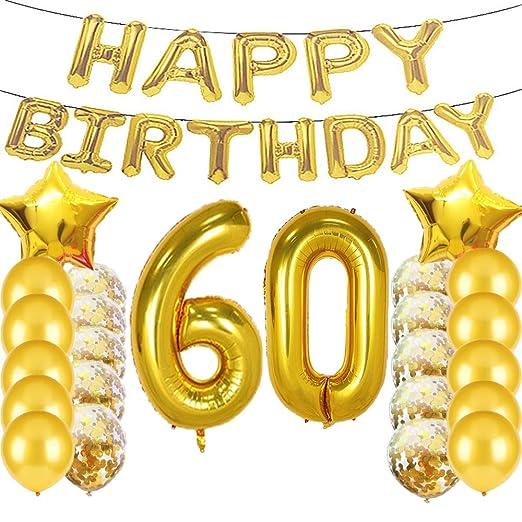 Sweet 60 cumpleaños decoraciones suministros de fiesta ...