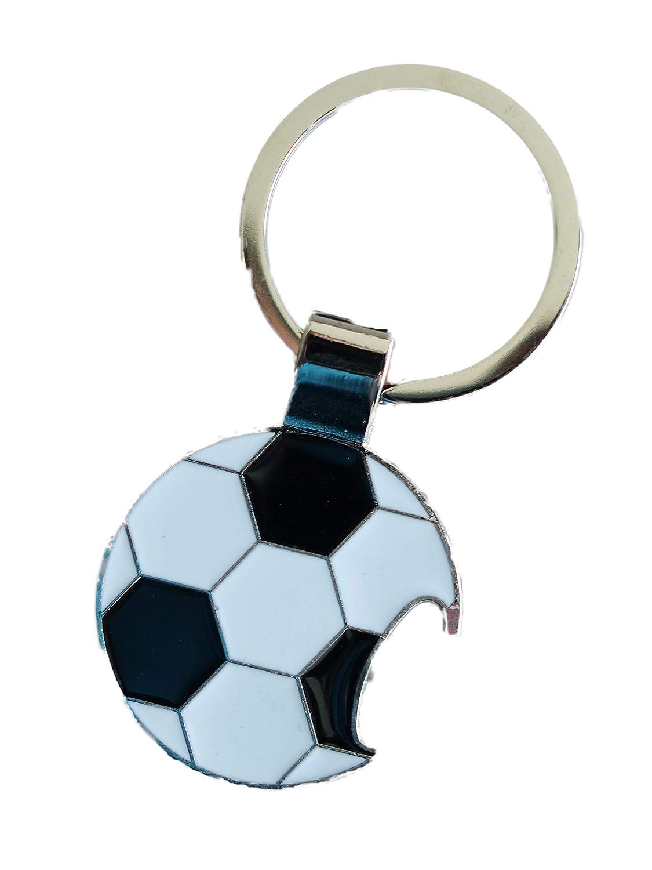 Funnythings - Llavero con diseño de balón de fútbol (Metal, con ...