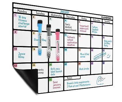 Planificador mensual al magnético de borrado en seco en ...