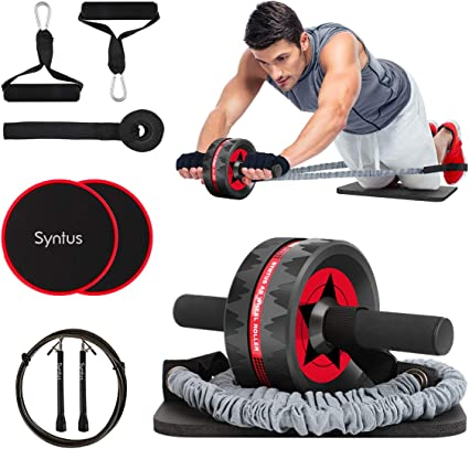 Basics Abdominal and Core Exercise Roller Wheel