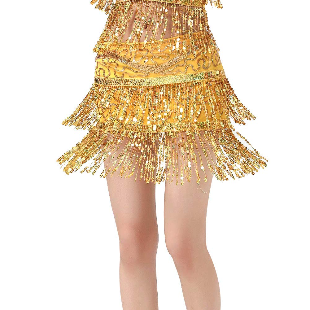 Dance Costumes for Women Girls Ladies, Belly Dance Hip Scarf or Belly Dance Top Bras Chest Pad - Coin/Tassel by MacRoog (Image #3)