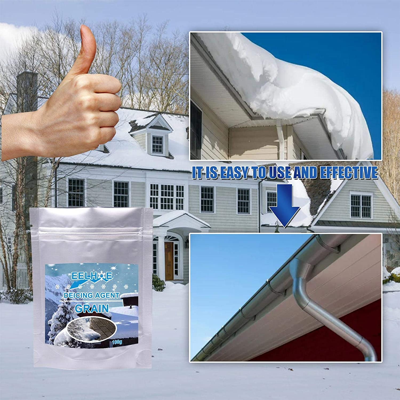 100G Snow Melt Salt Salt Tablets Ice Slicer Ice Melt Salt Roadway Eco Friendly Deicing Agent an All-Natural Ice Melt That Really Works