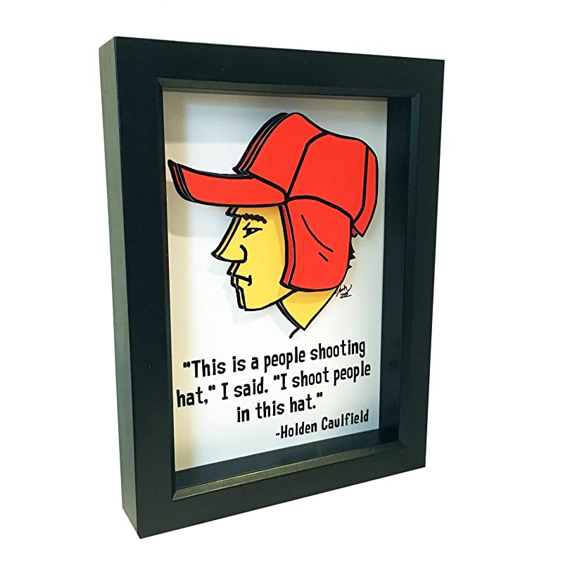 Amazon Com The Catcher In The Rye Holden Caulfield Quote 3d Art Jd Salinger Quote Handmade