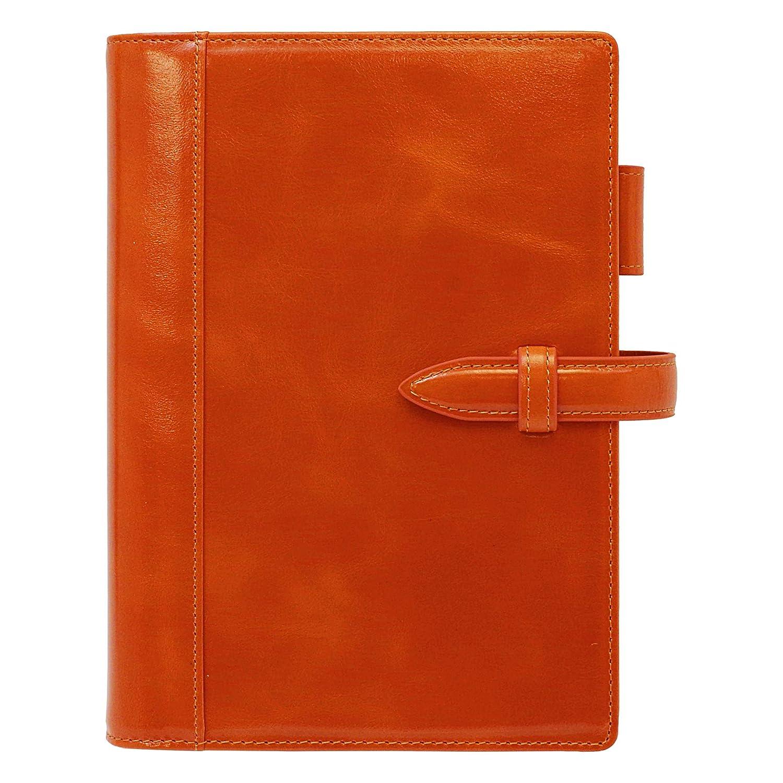 コンパクトサイズ ラストラスレザーバインダー リング内径20mm(ベルト)【オレンジブラウン】 6   B07QRPG8NG