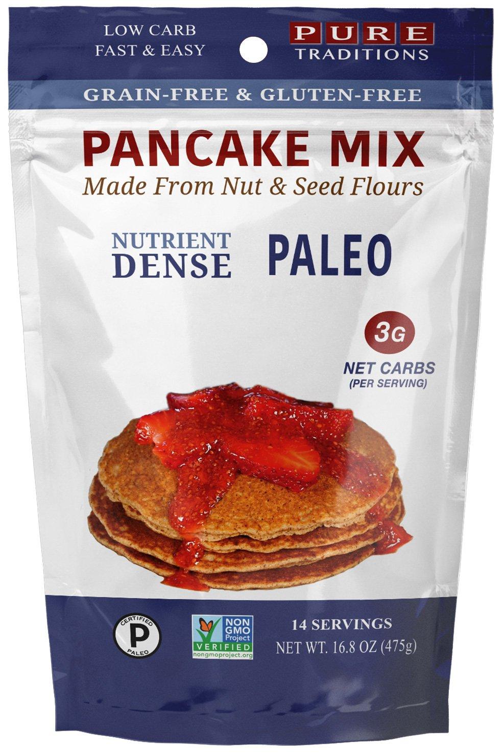 Certified Paleo Pancake Mix, Gluten & Grain Free - 16.8 Oz (14 Serving)