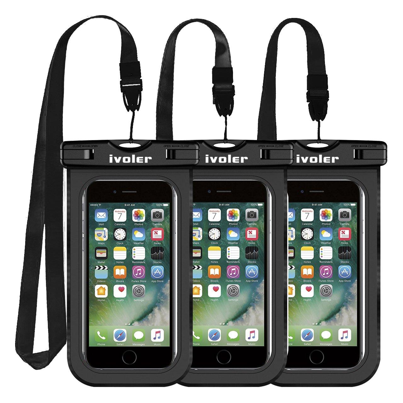 Samsung Huawei Etui//Housse//Coque /Étanche Smartphones Universel Sac Protection pour iPhone ivoler Nior//Bleu//Rose Certifi/ée IPX8 Pochette /Étanche T/él/éphone Jusqu/à 6,5 Pouce Pack de 3