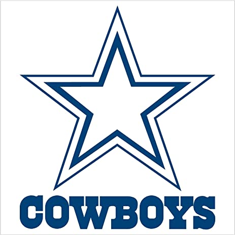 amazon com dallas cowboys team logo sticker decal blue 18 rh amazon com