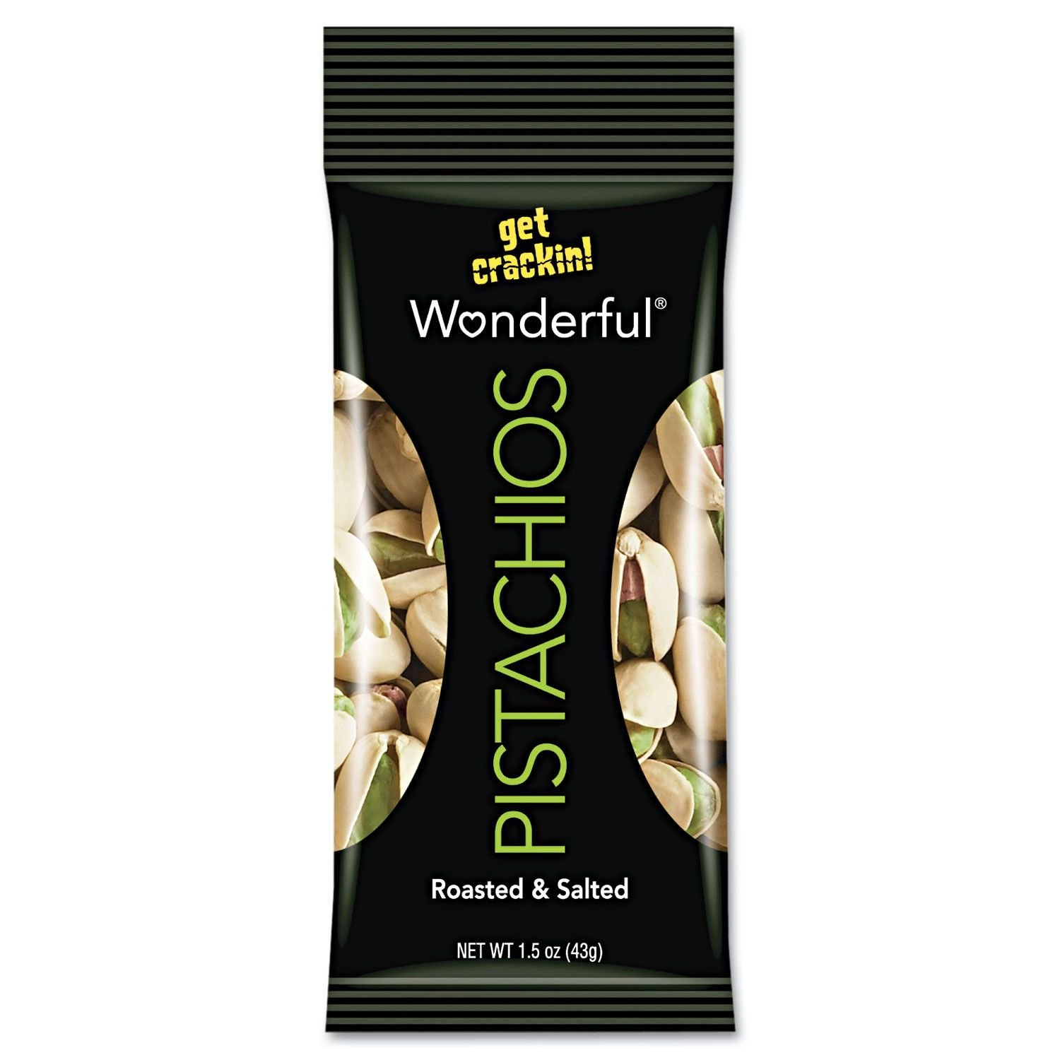 Wonderful Roasted and Salted Pistachios (36 oz) (pack of 6)