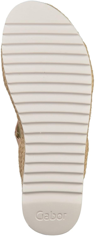 Gabor Damenschuhe 63.720.61 Damen Clogs, Pantoletten, Sandalen, mit verbreiterter Auftrittsfläche