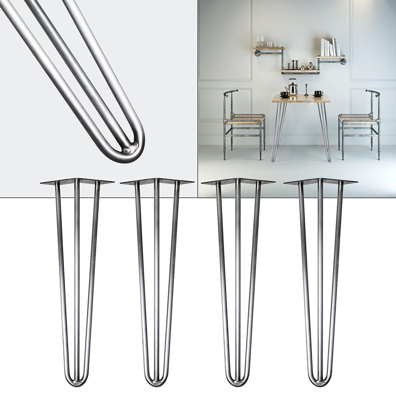 Pieds de table Hairpin Legs Support de table 4x Pieds de table en épingle à cheveux Acier 36cm WilTec