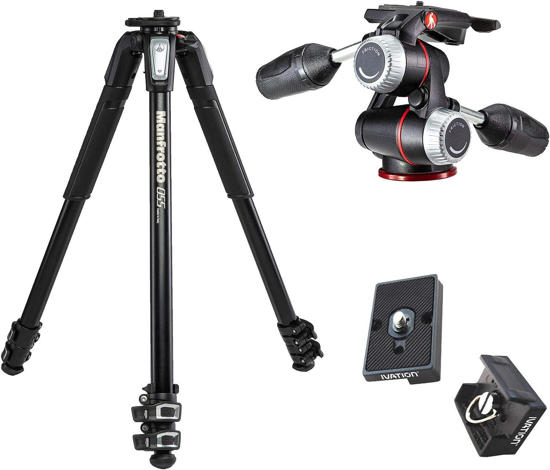 Manfrotto Mt055xpro3 Aluminium 3 Section Tripod Kit W Kamera