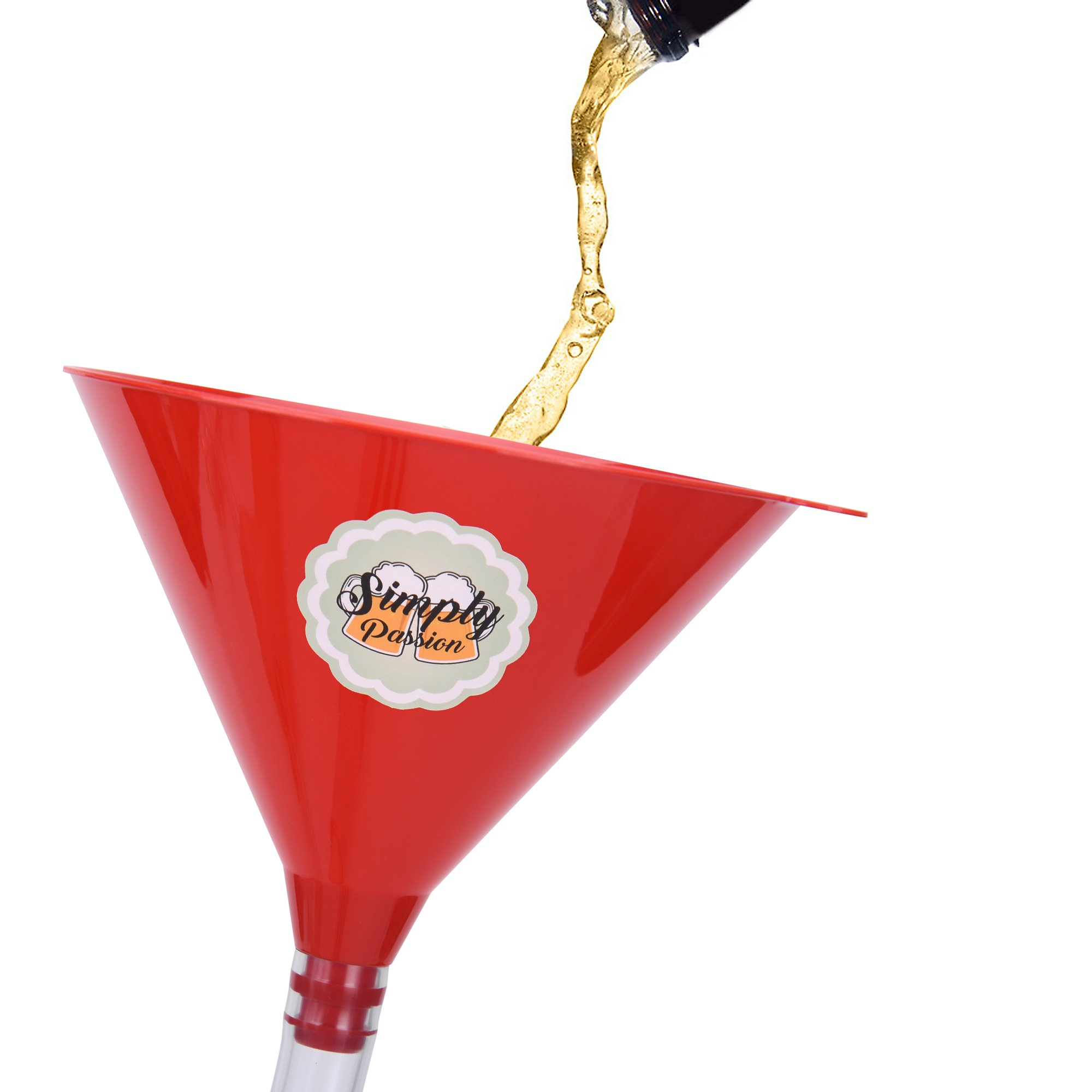Beer Bong Funnel with Valve - 30 inch extra long thick tube & leak-proof valve - College, frat, spring break, gag gift - Drink like you mean it by Simply Passion (Image #4)