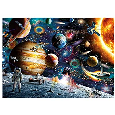 Lavany 1000 Piece Jigsaw Puzzles for Adults, Puzzles Collections, Planets in Space Jigsaw Puzzle: Toys & Games