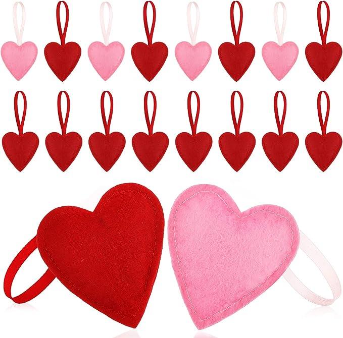 Heart wool felt Cinamon Patch felt heart decorated felt suspension interior ornament