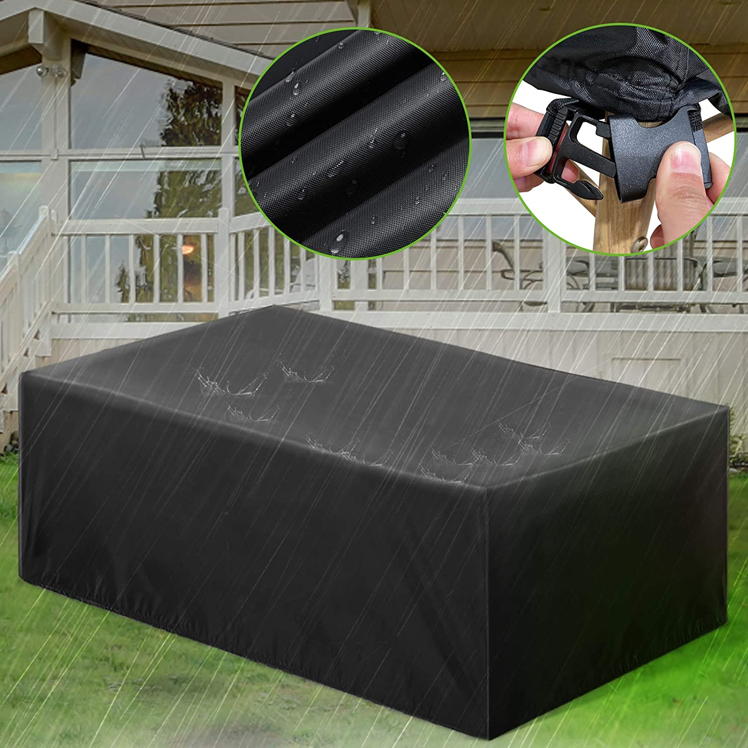 ESSORT Patio Furniture Covers, Extra Large Outdoor Furniture Set Covers 124