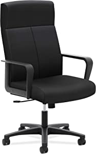 HON Validate Executive Chair - High Back Armed Office Chair for Computer Desk, Black (HVL604)