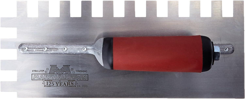 Marshalltown NT698 16-Inch Notched Trowel 1//4 x 3//8 x 1//4-Inch Sq-Soft Grip Handle