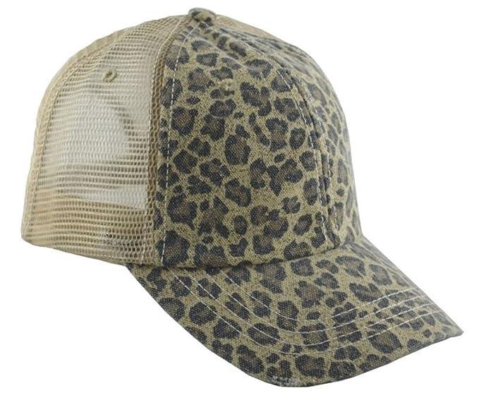 d411fed2e1e79 Image Unavailable. Image not available for. Color  G Women s Low Profile  Soft Structured Canvas Leopard Trucker Cap Khaki