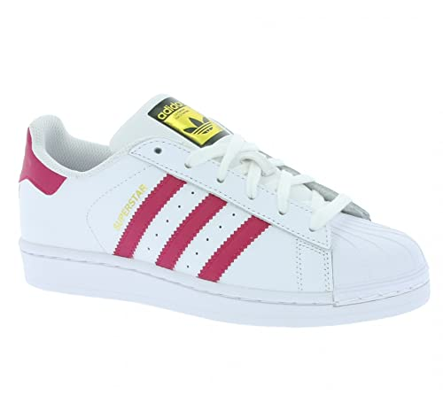 adidas Superstar Foundation J Sneaker, Unisex Bambini, Bianco (Ftwr White/Bold Pink
