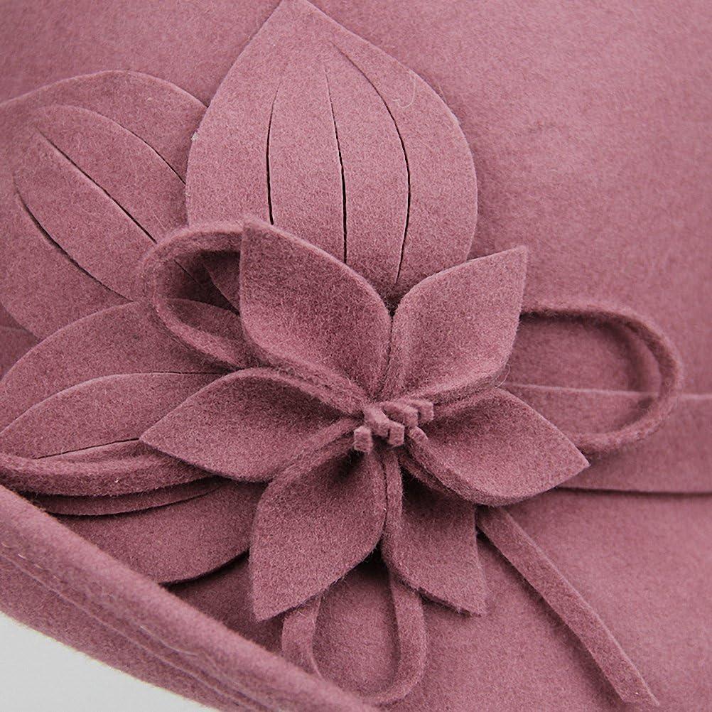 Maitose/® Damen Wollfilz Blumen Kirche Bowler Hats