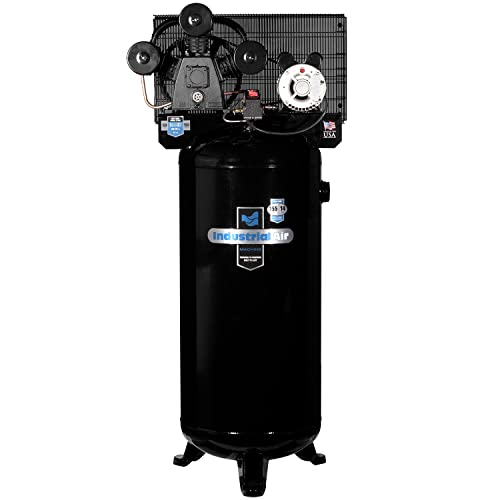 Industrial Air Hi-Flo Single Stage Cast Iron Three Cylinder Air Compressor
