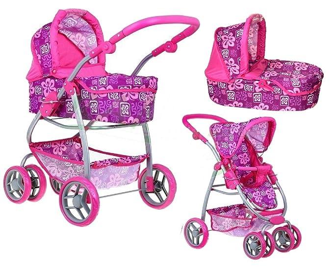 4 opinioni per Grande Carrozzina Passeggino per bambole 8 funzioni Ramiz gioco bambina Fiori