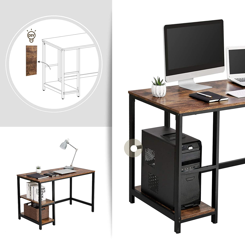 Schreibtisch vintage  VASAGLE Vintage Schreibtisch Computertisch, PC-Tisch für Bürotisch ...