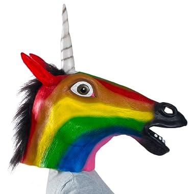 Tigerdoe Unicorn Mask - Halloween Mask - Unicorn Costume Adult - Rainbow Unicorn Mask