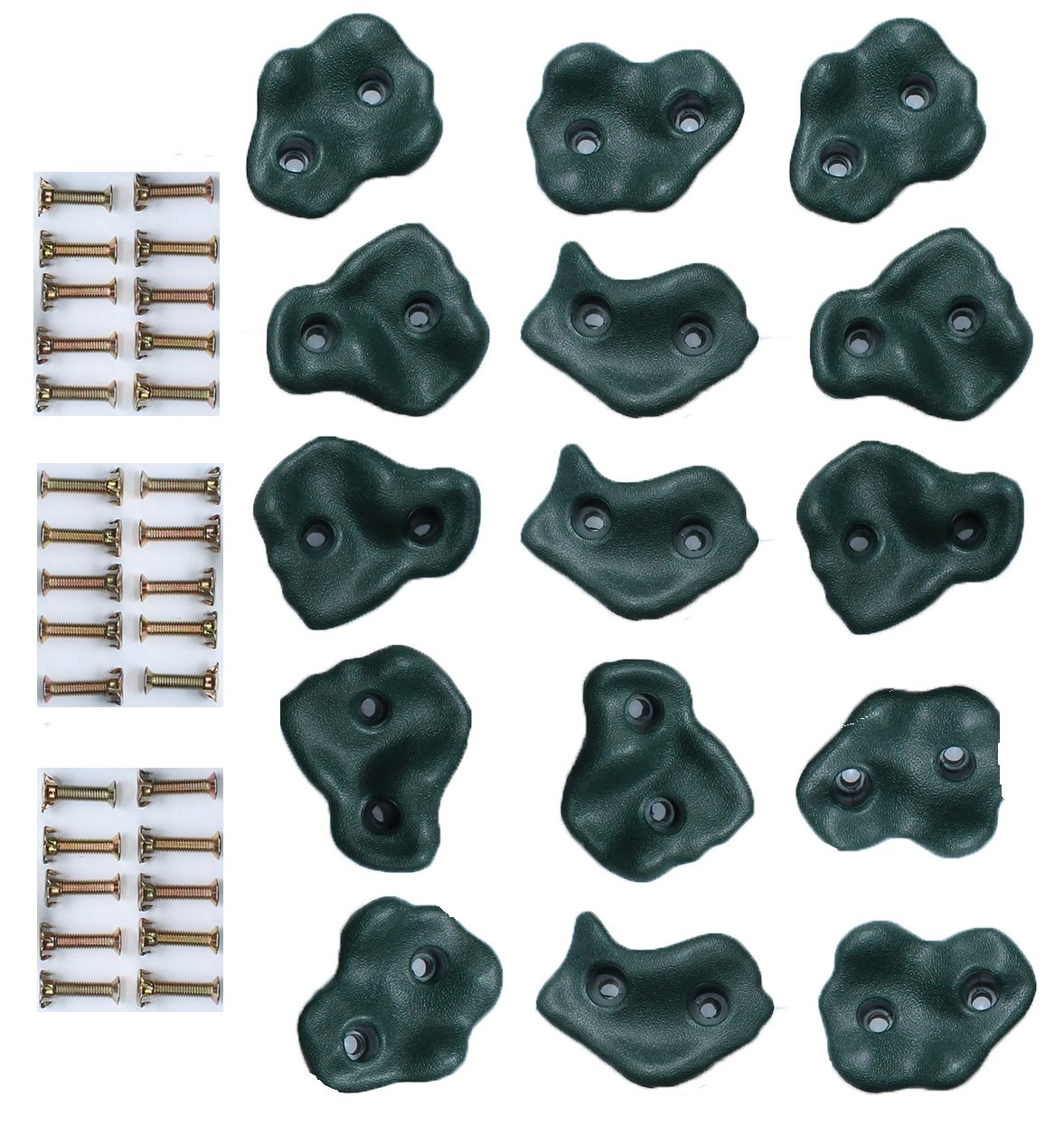 HIKS Plastic Climbing Stones Holds & Grips, Ideal For Climbing Frames , Tree Houses And Kids Climbing Walls (Pack of 5 Grips)