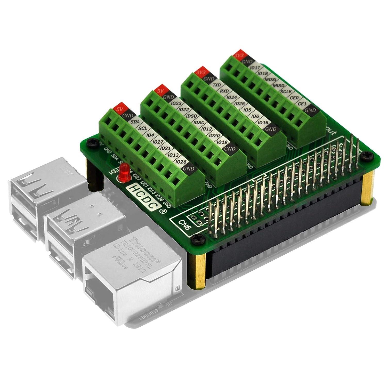 RPi GPIO Terminal Block Breakout Board HAT, for Raspberry Pi