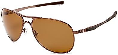 5371a5b9d6 Oakley Plaintiff - Lunettes de soleil homme - Brown Chrome - Bronze  Polarized