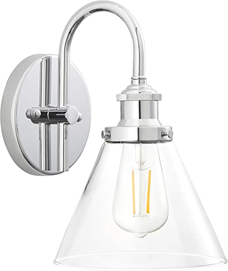 Tenesa Hallway Wall Sconce Chrome Bathroom Vanity Light With Led Bulb Ll Wl631 2pc Amazon Com