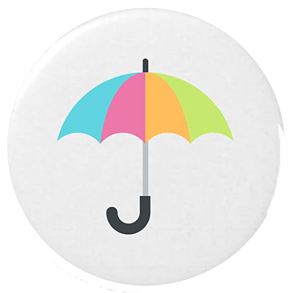 25mm Botón Emoji paraguas / Umbrella Emoji 25mm Button Badge