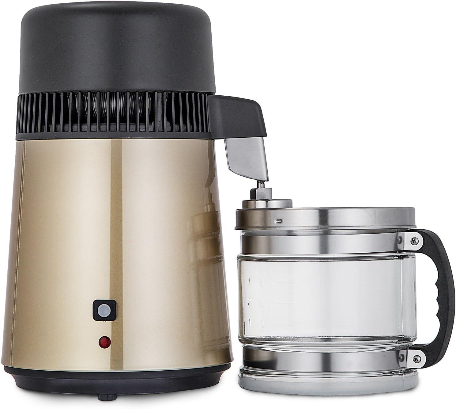 Cueffer 4L Destilador de Agua 220V 750W Purificador de Agua Filtro ...
