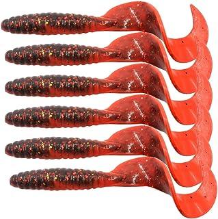 SHUFAGN,Appâts 6PCS de 6,5 cm pour Les Cannes à pêche en eaux Profondes et Peu Profondes(Color:Rouge)
