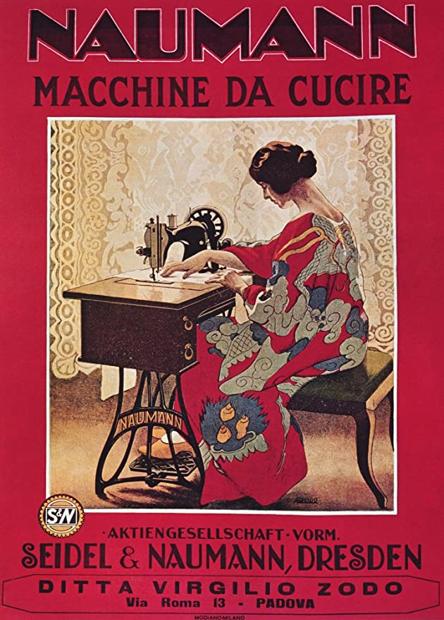 Vintage de mercería y Textiles NAUMANN máquinas de coser por ...