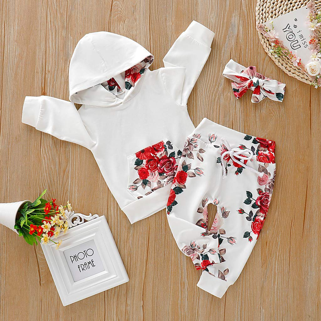 Action Cameras Pants Set Fanteecy Baby Girls Long Sleeve Flowers ...