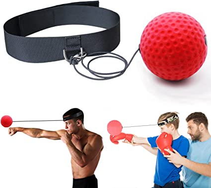 Boxing Reflex Hands Eye Coordination Speed Punch Ball Training Headband